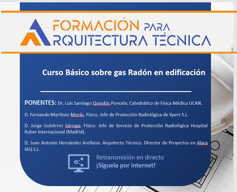 Curso sobre gas radón en edificación